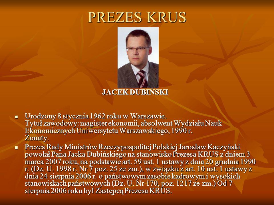 PREZES KRUS JACEK DUBIŃSKI