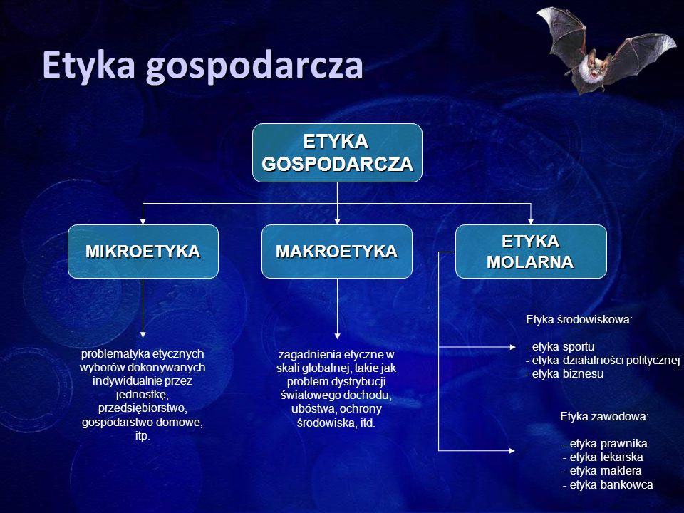 Etyka gospodarcza ETYKA GOSPODARCZA MIKROETYKA MAKROETYKA ETYKA