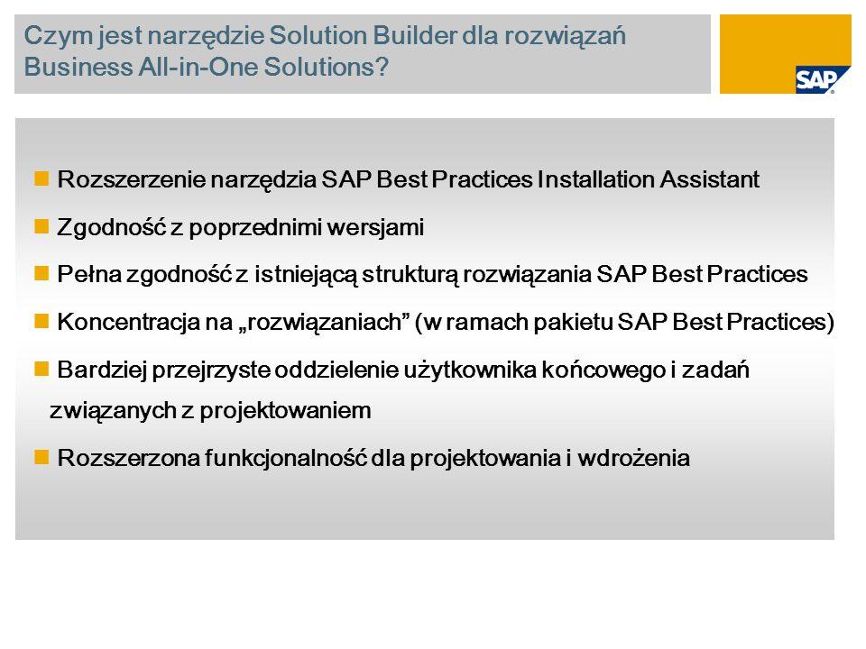 Czym jest narzędzie Solution Builder dla rozwiązań Business All-in-One Solutions