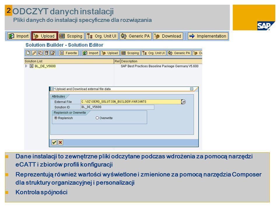 2 ODCZYT danych instalacji Pliki danych do instalacji specyficzne dla rozwiązania.