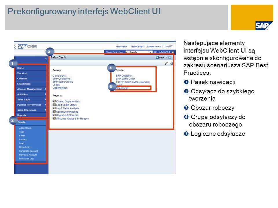 Prekonfigurowany interfejs WebClient UI