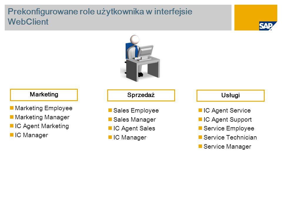 Prekonfigurowane role użytkownika w interfejsie WebClient