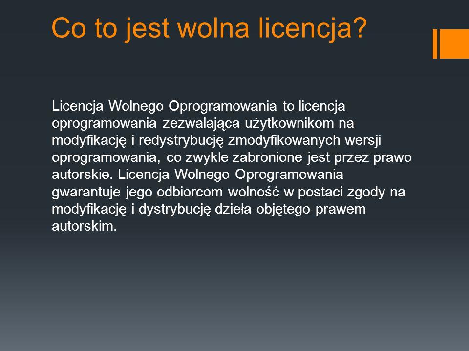 Co to jest wolna licencja