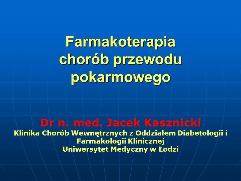 Farmakoterapia chorób przewodu pokarmowego