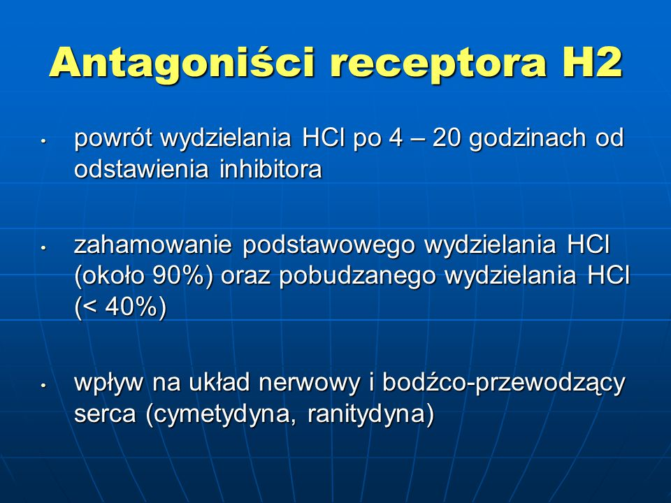 Antagoniści receptora H2