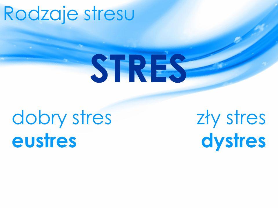 Rodzaje stresu STRES dobry stres eustres zły stres dystres