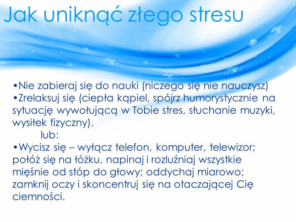 Jak uniknąć złego stresu