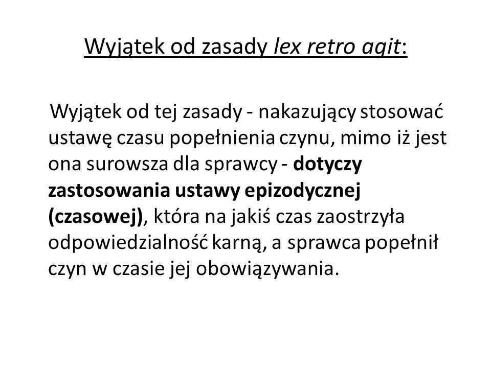 Wyjątek od zasady lex retro agit: