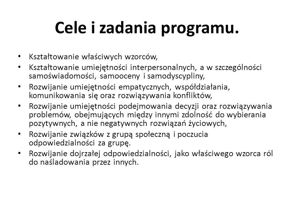 Cele i zadania programu.