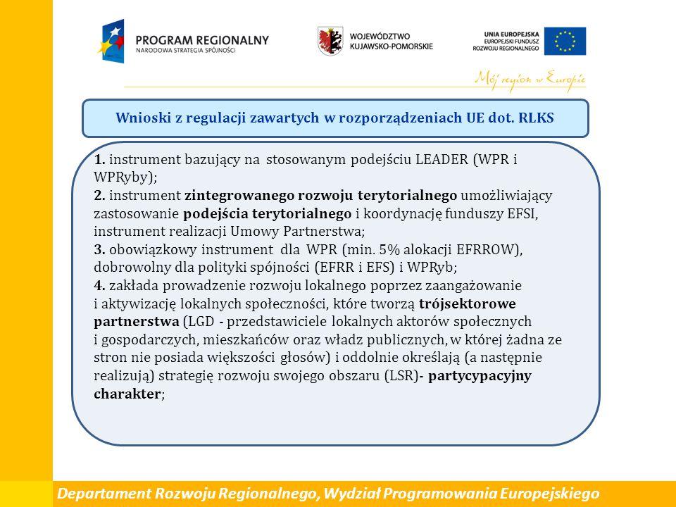 Wnioski z regulacji zawartych w rozporządzeniach UE dot. RLKS