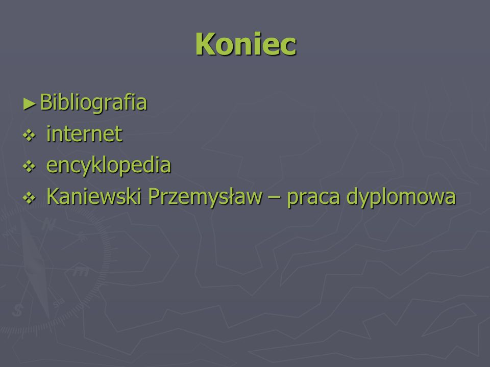 Koniec Bibliografia internet encyklopedia