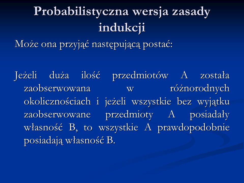 Probabilistyczna wersja zasady indukcji
