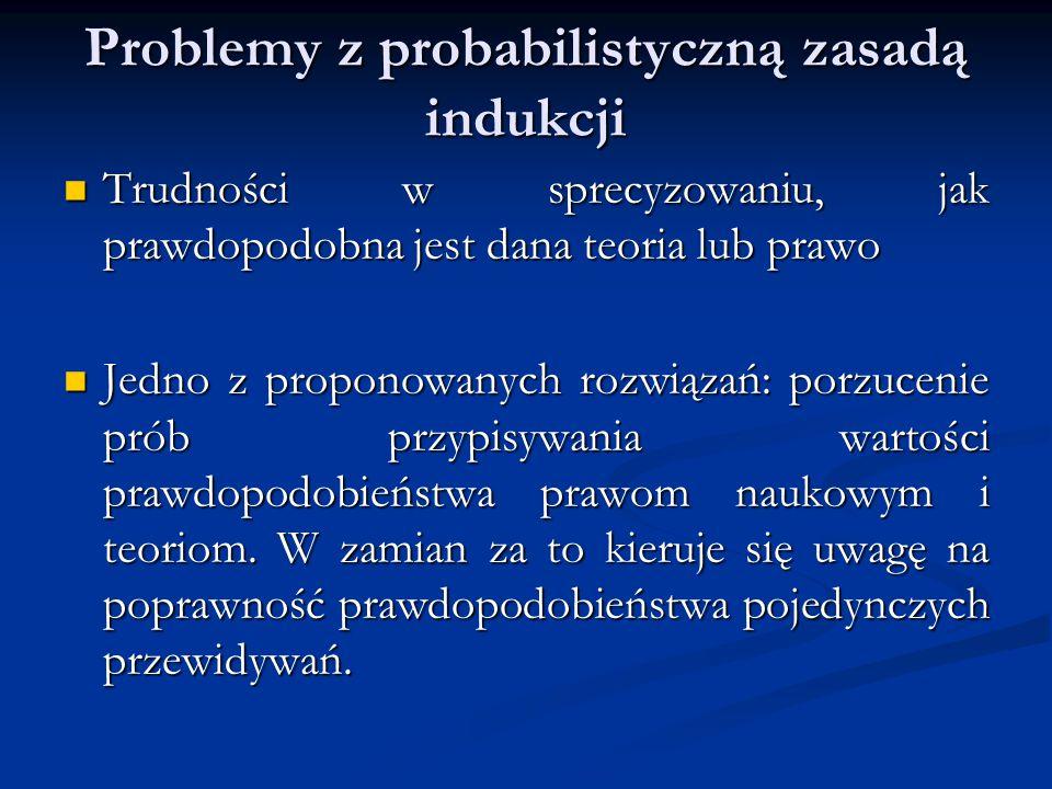 Problemy z probabilistyczną zasadą indukcji