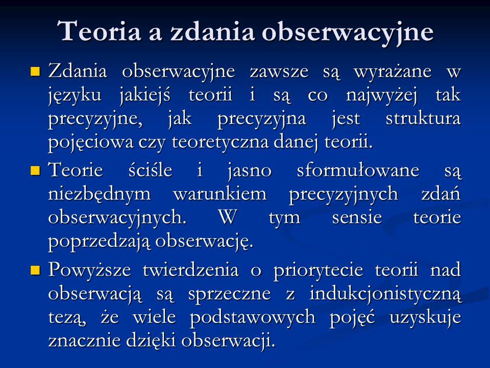 Teoria a zdania obserwacyjne