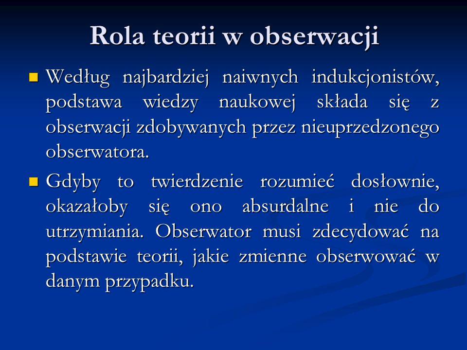 Rola teorii w obserwacji