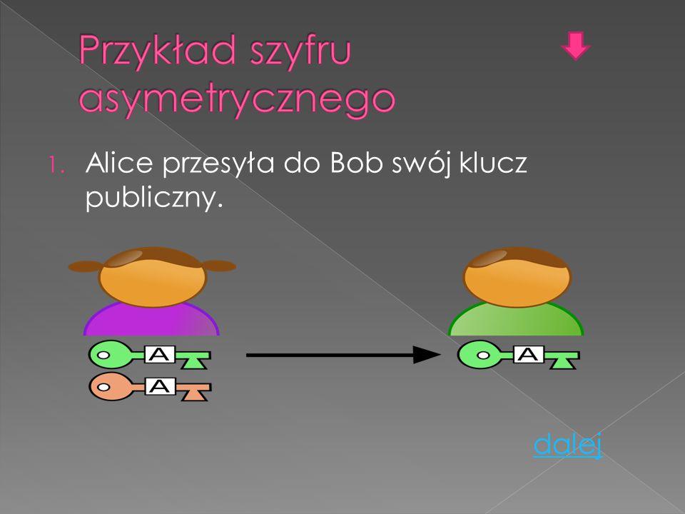 Przykład szyfru asymetrycznego