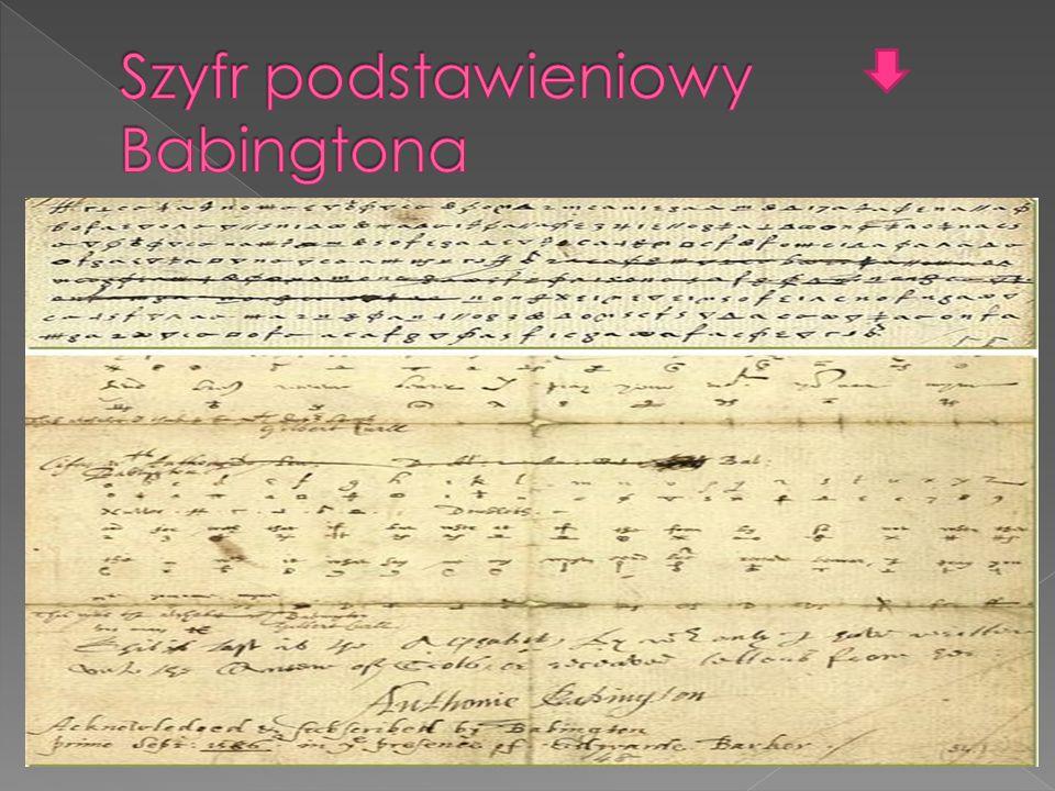 Szyfr podstawieniowy Babingtona