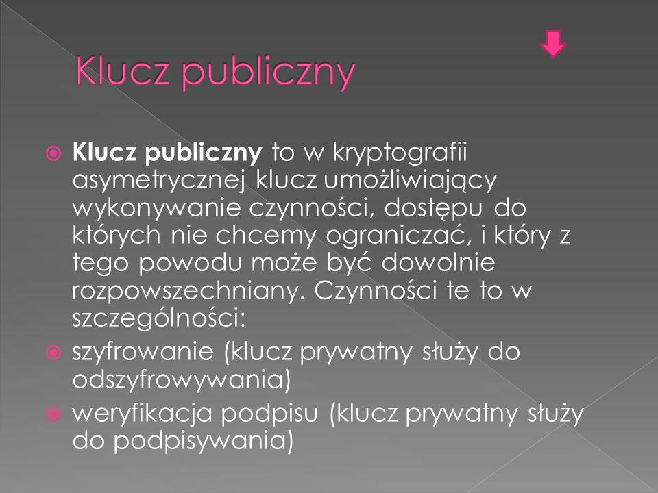 Klucz publiczny