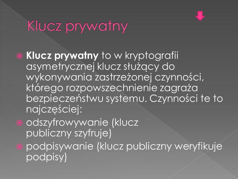 Klucz prywatny