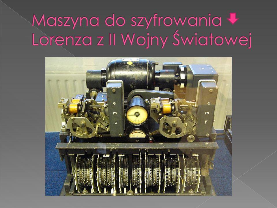 Maszyna do szyfrowania Lorenza z II Wojny Światowej