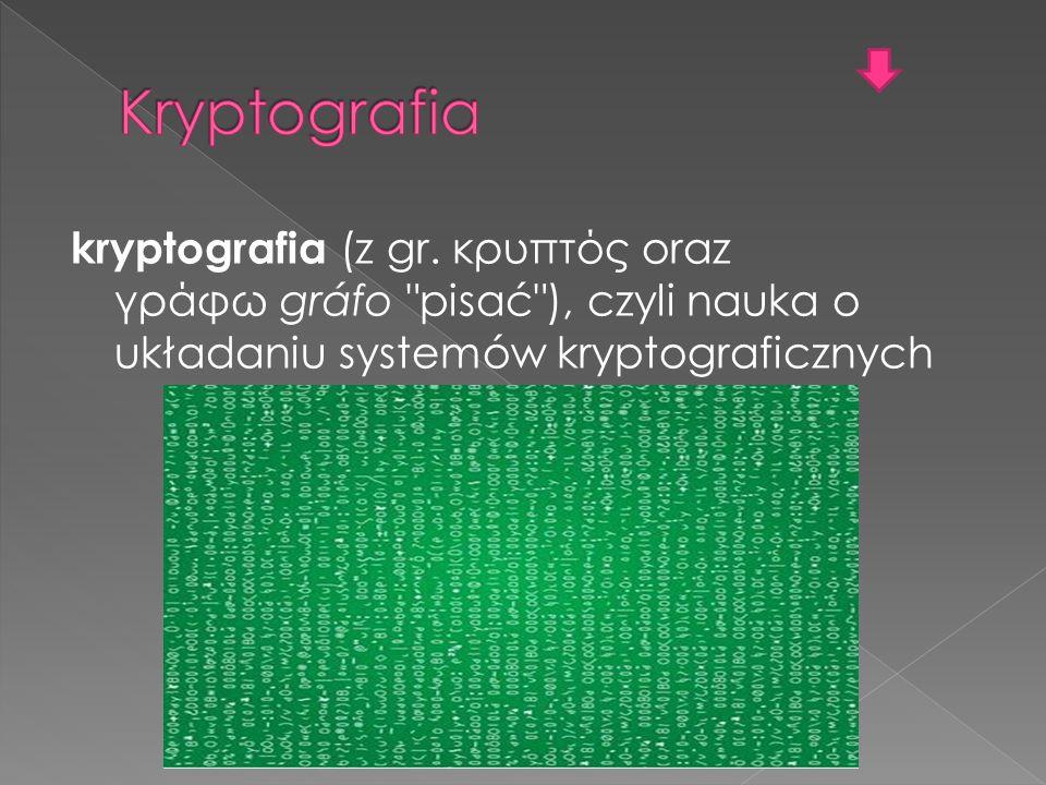 Kryptografia kryptografia (z gr.