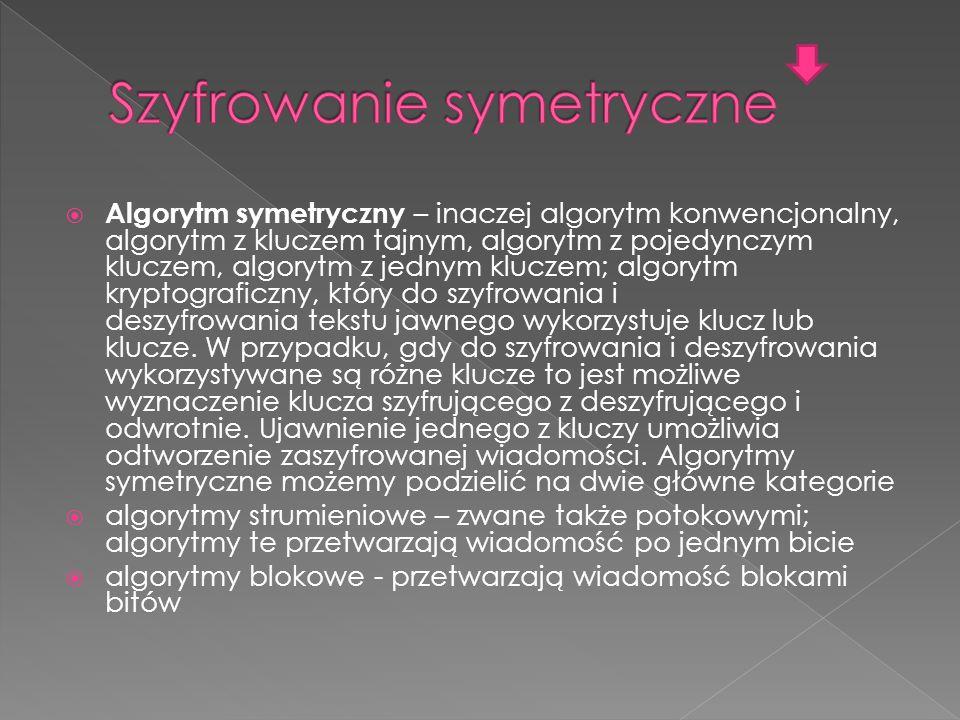 Szyfrowanie symetryczne