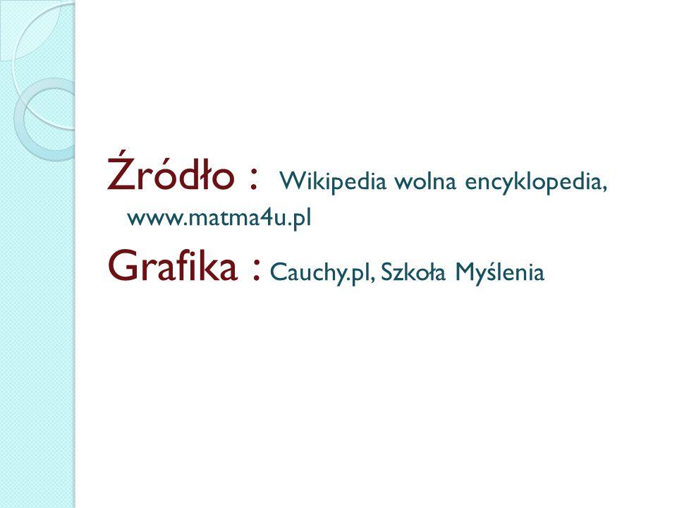 Źródło : Wikipedia wolna encyklopedia, www. matma4u