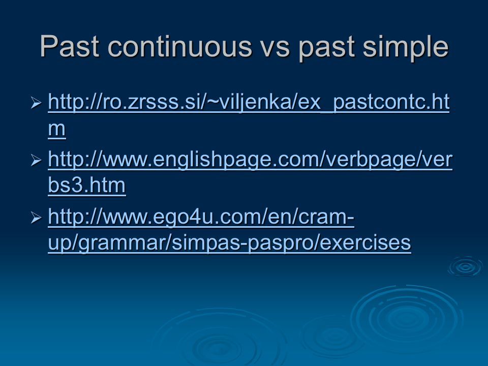 Past continuous vs past simple