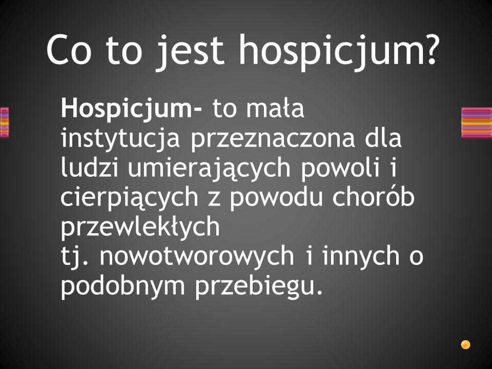 Co to jest hospicjum