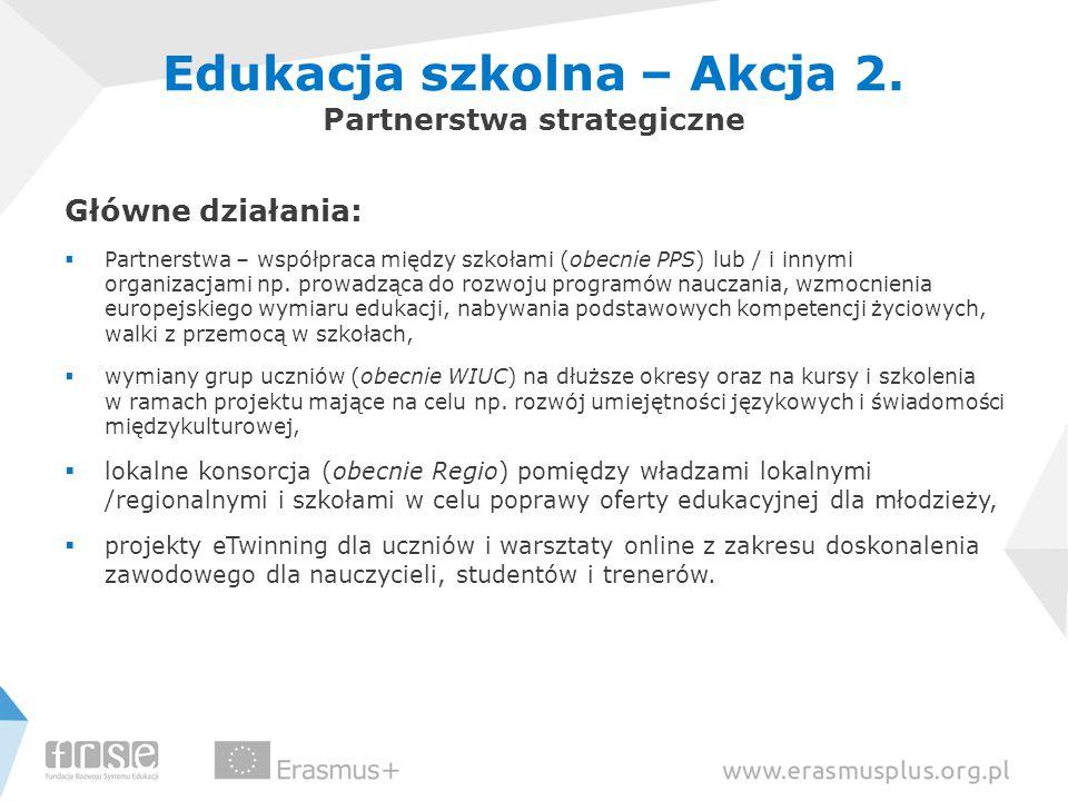 Edukacja szkolna – Akcja 2. Partnerstwa strategiczne