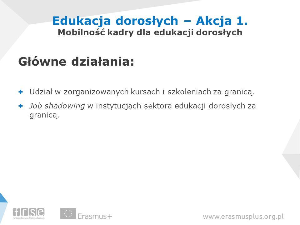 Edukacja dorosłych – Akcja 1. Mobilność kadry dla edukacji dorosłych