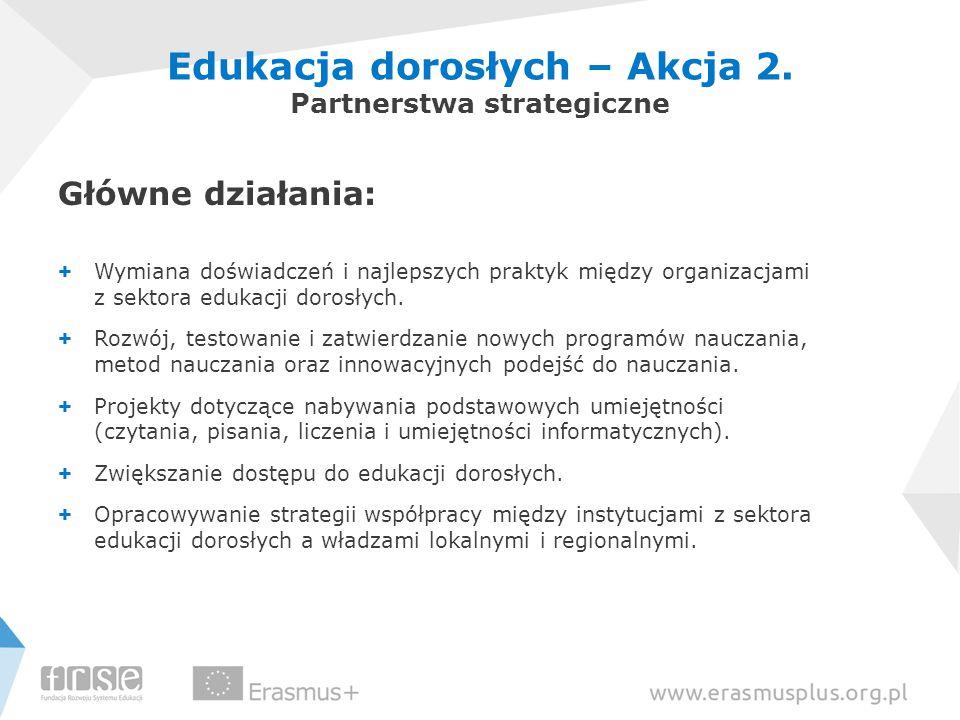 Edukacja dorosłych – Akcja 2. Partnerstwa strategiczne