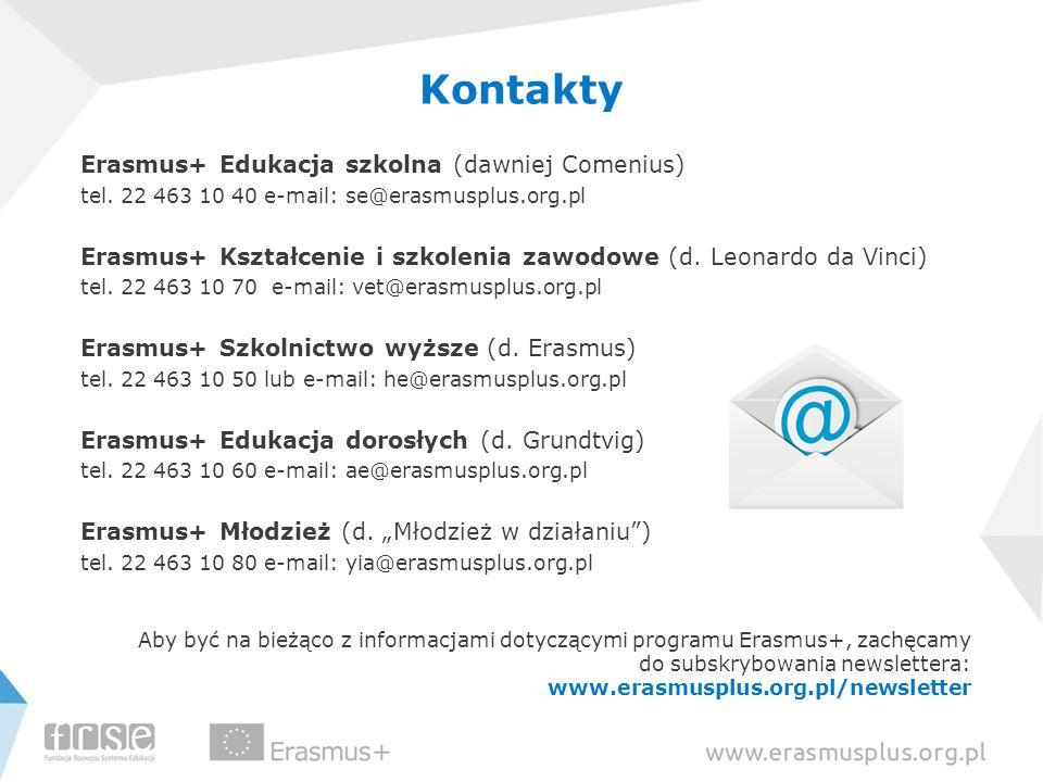 Kontakty Erasmus+ Edukacja szkolna (dawniej Comenius)
