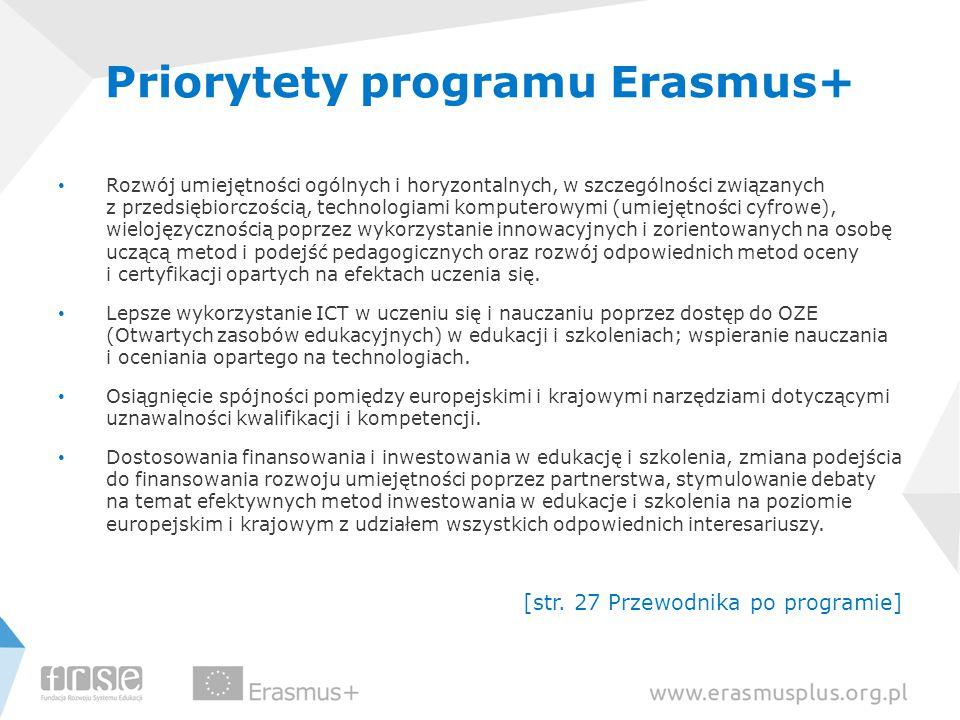 Priorytety programu Erasmus+
