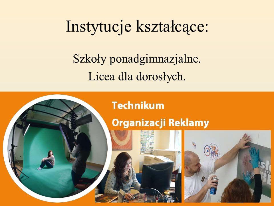 Instytucje kształcące: