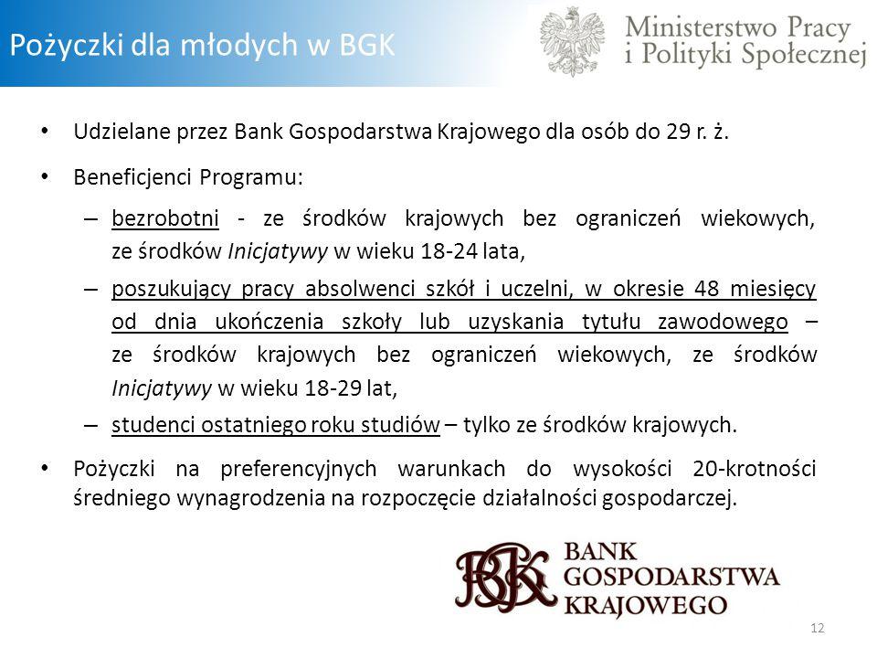 Pożyczki dla młodych w BGK