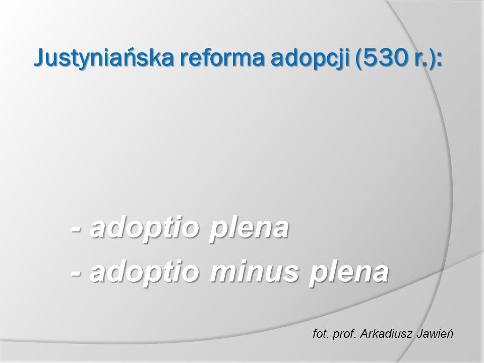Justyniańska reforma adopcji (530 r.):