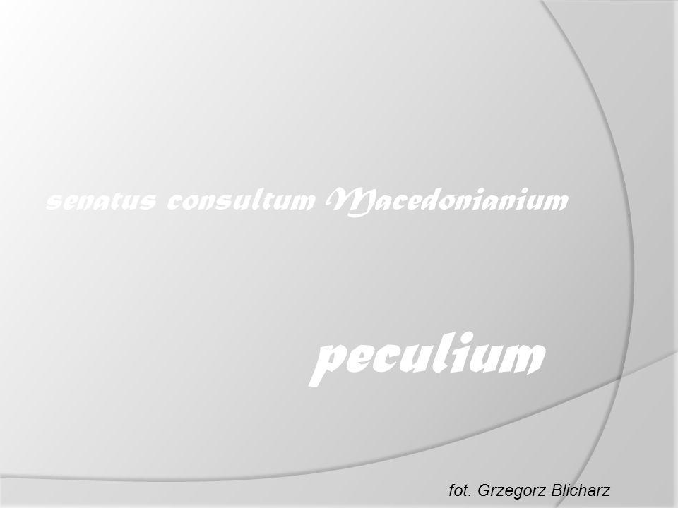 senatus consultum Macedonianium