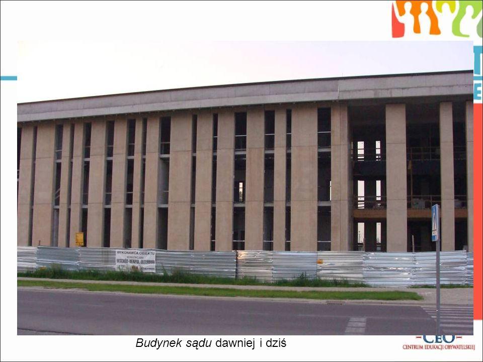 Budynek sądu dawniej i dziś