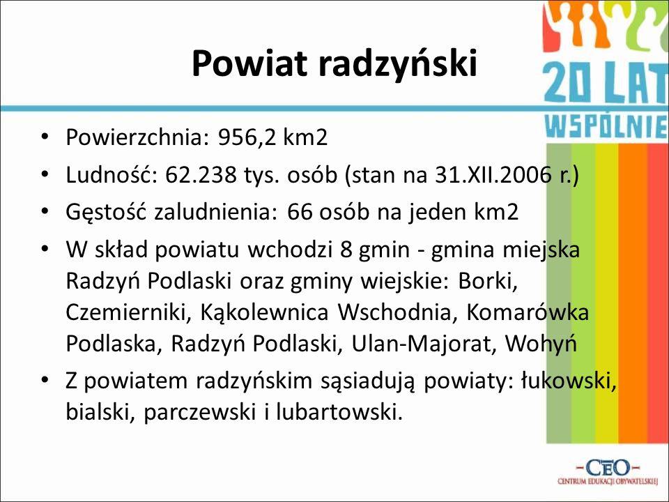 Powiat radzyński Powierzchnia: 956,2 km2