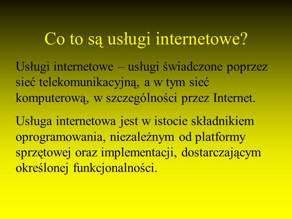 Co to są usługi internetowe