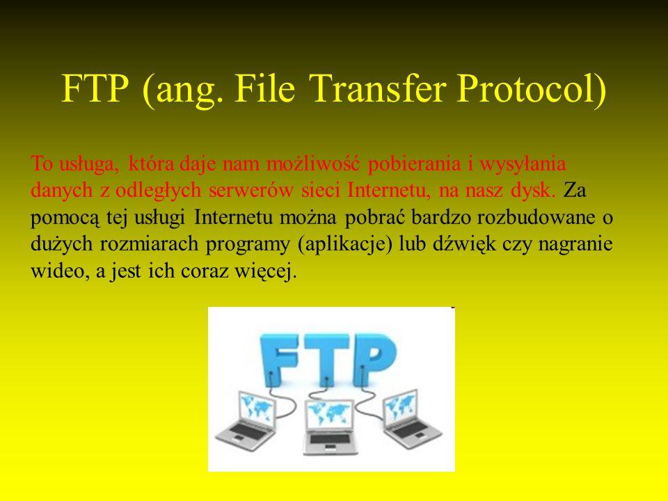 FTP (ang. File Transfer Protocol)
