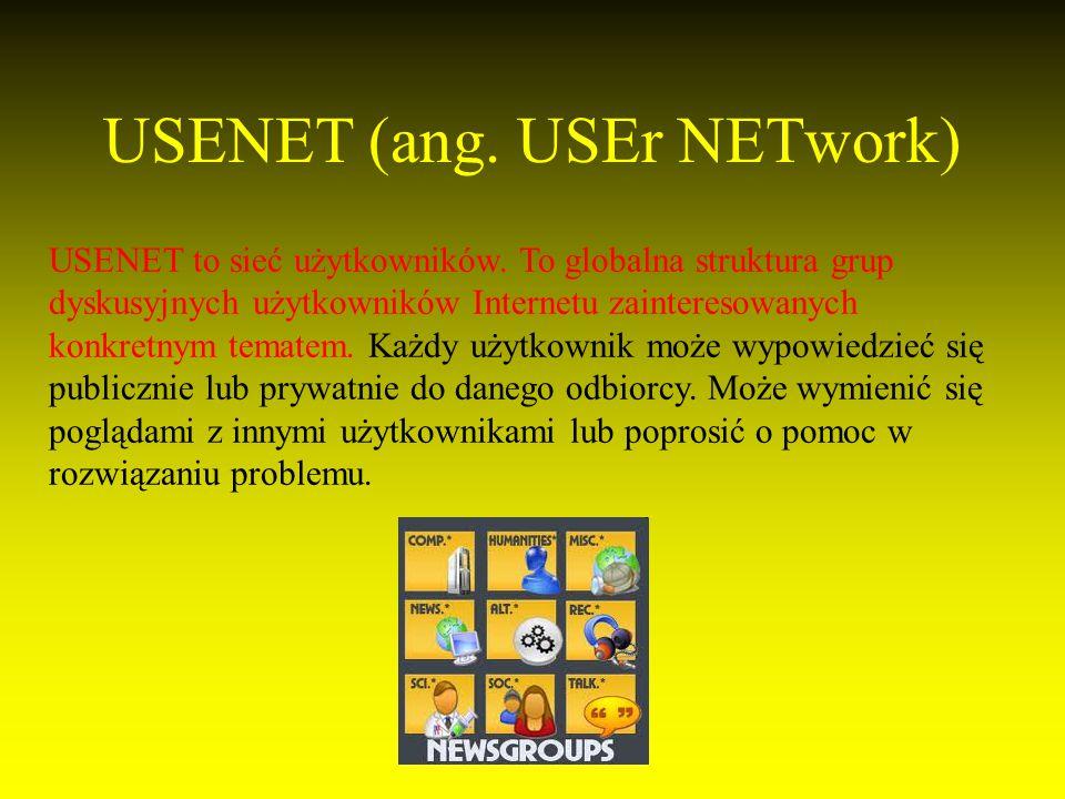 USENET (ang. USEr NETwork)