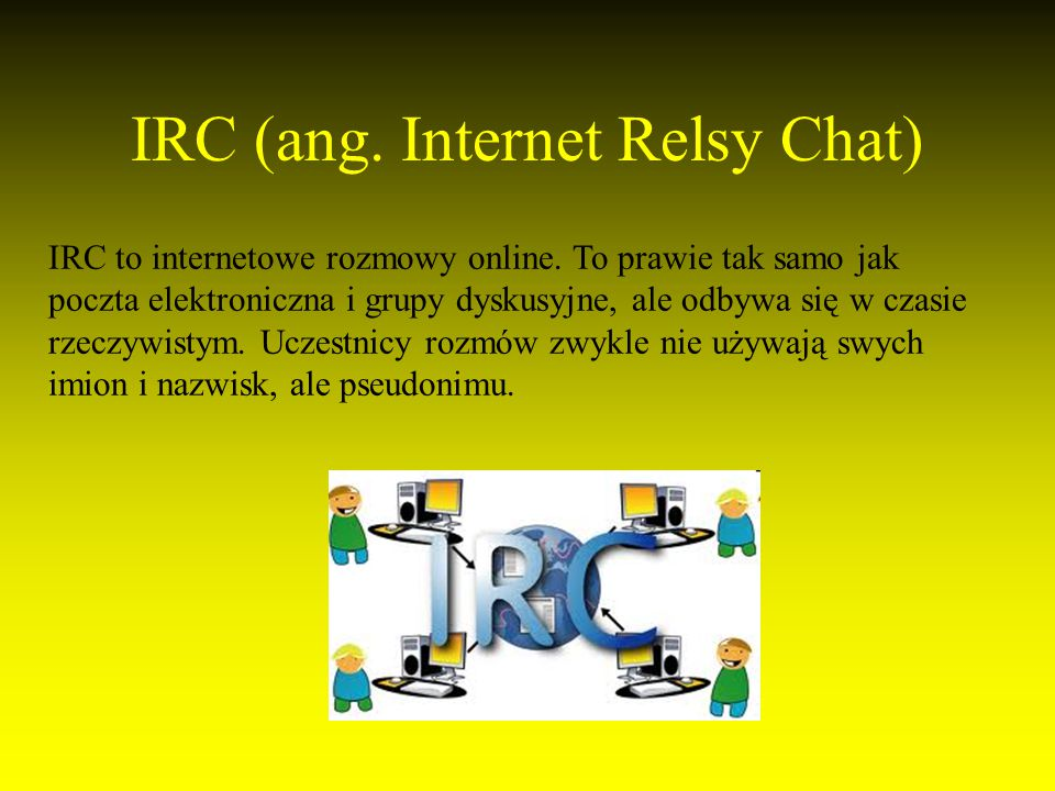 IRC (ang. Internet Relsy Chat)