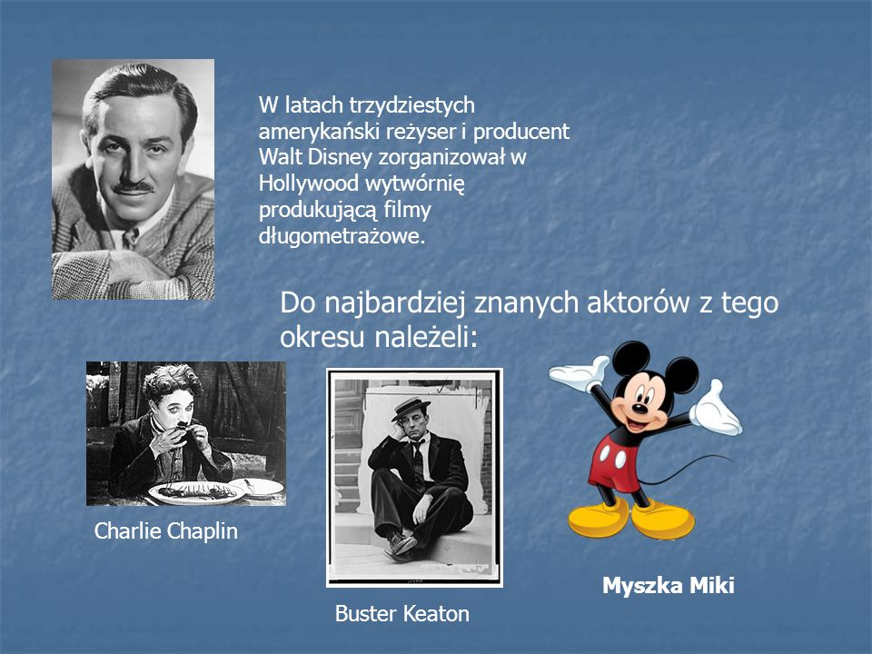 Do najbardziej znanych aktorów z tego okresu należeli: