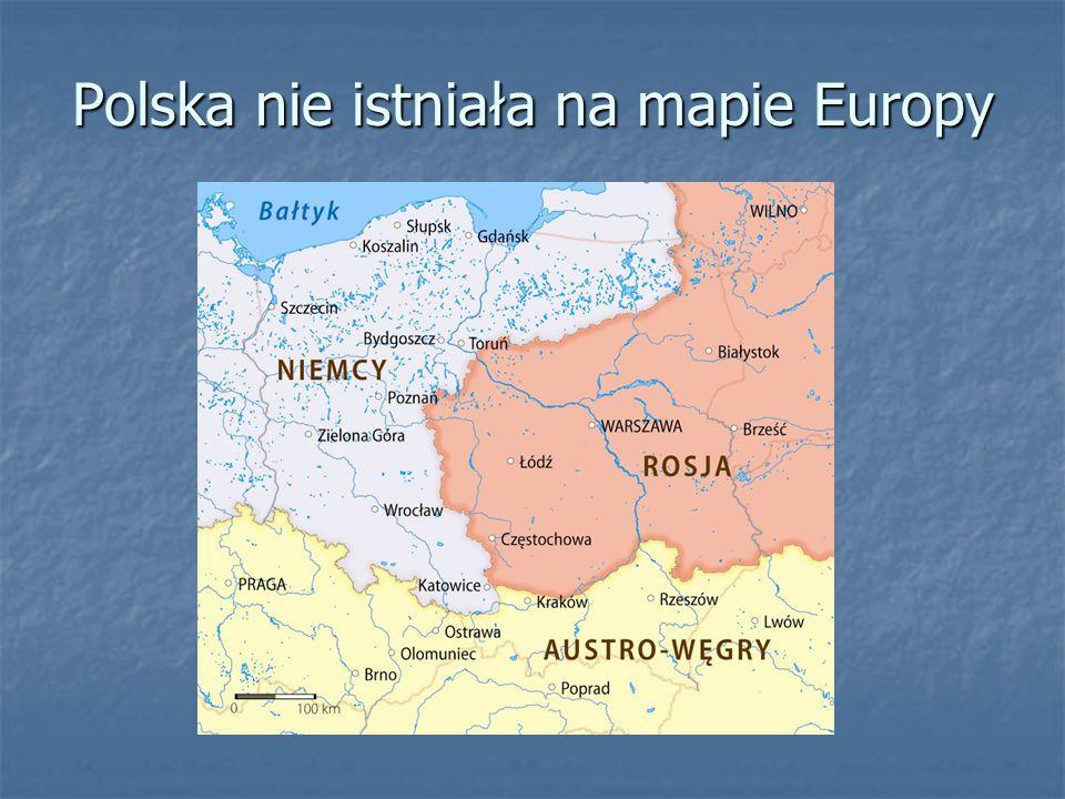Polska nie istniała na mapie Europy