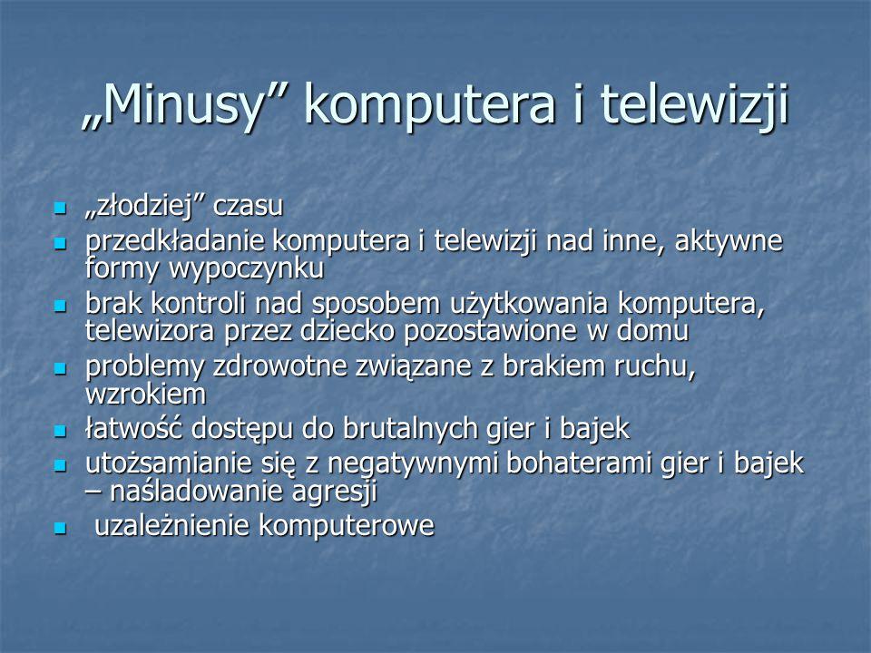"""""""Minusy komputera i telewizji"""