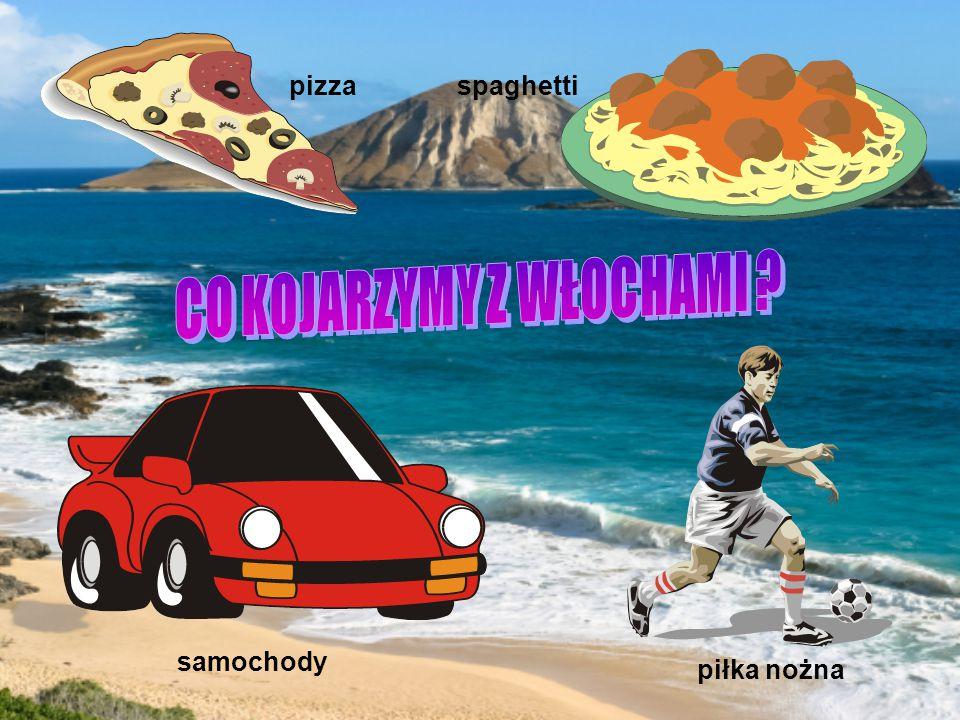 pizza spaghetti piłka nożna samochody