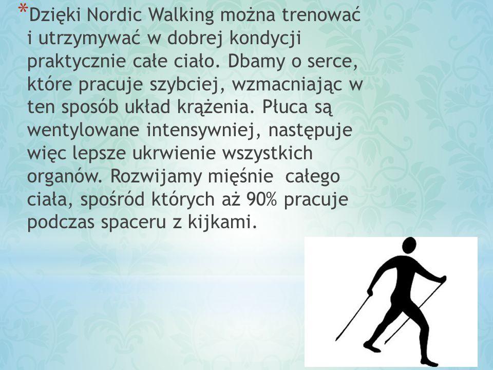 Dzięki Nordic Walking można trenować i utrzymywać w dobrej kondycji praktycznie całe ciało.