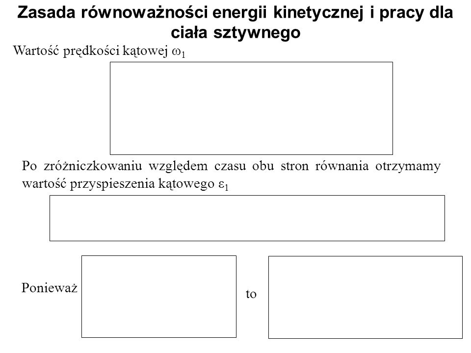 Zasada równoważności energii kinetycznej i pracy dla ciała sztywnego